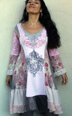 Reserved for Leanne Daniels romantic dress tunic by jamfashion, $88.00                                                                                                                                                                                 Mehr