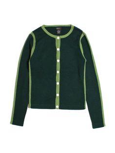 Women Evie Green Cardigan Sweater 100% Cashmere Size M #Evie #Cardigan