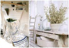 Простой и уютный балкон в стиле кантри
