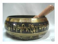 Tibetan Singing Bowls. I just got a pair of these as a gift from my fiance. Beautiful :)