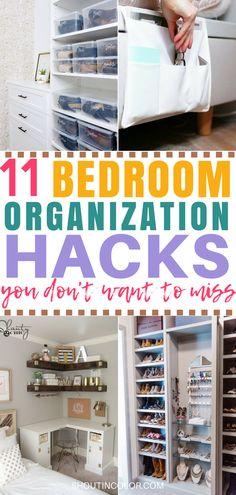 These bedroom organization hacks saved my life. Declutter and organize your bedroom with these simple DIY organization hacks.