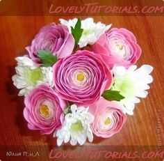 Ranunculus on Lovely Tutorials