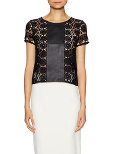 Turner Leather Trim Top from Up to 80% Off: Ultimate Steals on Gilt