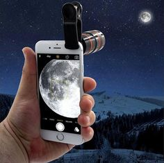 Turn your smartphone into a DSLR-quality camera. Purchase our iPhone & Android HD Zoom Lens and turn your phone into a DSLR-quality camera. Big Camera, Camera Lens, Macro Camera, Nikon Cameras, Zoom Hd, Smartphone, Dslr Photography Tips, Phone Lens, Camera Phone
