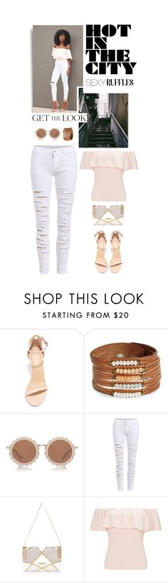 """""""All Ruffled Up"""" by shortyluv718 ❤ liked on Polyvore featuring Liliana, Design Lab, House of Holland, River Island, Miss Selfridge, rippedjeans, ruffles and contestentry"""