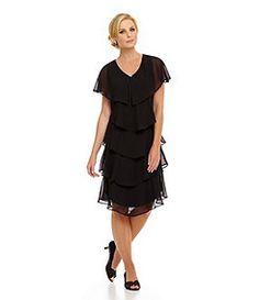 Patra Tiered Georgette Dress