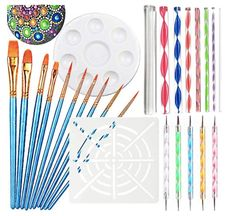 BEoffer Ball Stylus Dotting Tools 18 pcs Clay Sculpting Modeling Tools for Pottery Sculpture Plastic Paper Flowers Rock Painting Mandala Art Carving Modeling Embossing Sets
