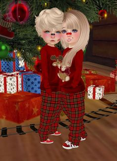 this is me and my bub in a game on Christmas day on imvu