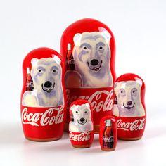 Coca Cola Bear Nesting Dolls