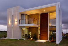 #Casas #HomeDesign #Arquitetura 20 Fachadas de casas modernas com linhas retas - veja modelos maravilhosos!