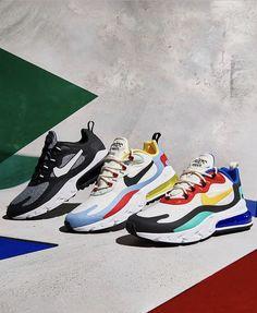 Nike Air Max 270 react Nike Fashion, Sneakers Fashion, Nike Gear, Nike Shoes, Sneakers Nike, Mens Walking Shoes, Off White Shoes, Shoes World, Air Max 270