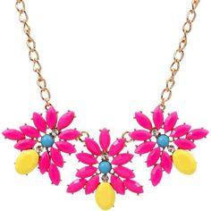Ruby Rocks Jewellery Neon Pink Gem Necklace ($23) ❤ liked on Polyvore featuring jewelry, necklaces, gemstone pendants, neon pink jewelry, chain jewelry, gem jewelry et gemstone necklaces