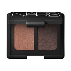 """Nars Duo Eyeshadow in Cordura ♣ Shimmering Warm Rich Brown/ Shimmering sooty dark brown ♣ I got this as the same time as Isolde and I loved using them together to ground the brighter shades of Isolde. Cordura is earthy and rich, well suited to a """"natural"""" look; but don't mistake me: these browns aren't boring."""