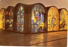 Marc Chagall's 12 Tribes of Israel stained glass windows - some of my most favorite stained glass art ever.