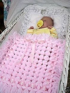 "You really don't know the meaning of the word ""cute"" until you've seen a gorgeous baby peeking out from an equally gorgeous pom pom baby blanket! Pom Pom Baby, Pom Pom Rug, Pom Poms, Crochet Baby Blanket Tutorial, Loom Blanket, Diy Bebe, Blankets For Sale, Pom Pom Crafts, Mermaid Blanket"