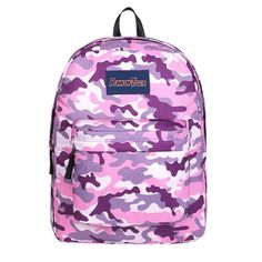 Pretty Pink Camouflage Backpack Girls Large Capacity School Bag Handbag Hiking Travel Bag Hiking Backpack, Travel Backpack, Backpack Bags, Camouflage Backpack, Pink Camouflage, Girl Backpacks, School Backpacks, Stylish School Bags, High Quality Backpacks