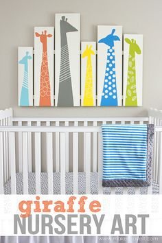 DIY Giraffe Wall Art for Nursery or Kid Room (or even as a headboard) --- Make It and Love It