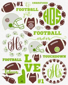 Svg Football Svg Football Mom Svg Football by HighQualitySVG