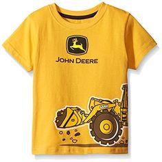 John Deere Little Boys' Construction Wrap T-Shirt #FunStartsHere #Digger www.yankeetoybox.com  Youth Tee Shirt