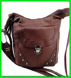 Concealed Carry Handbag Gun Concealment Purse Left/Right Hand 7005 WINE - Wallets (*Amazon Partner-Link)
