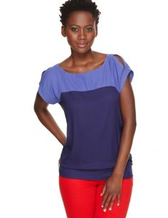 Tops for Women: Split-shoulder Colorblock Top: The Limited