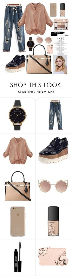 """""""Untitled #99"""" by mariamed ❤ liked on Polyvore featuring Olivia Burton, WithChic, STELLA McCARTNEY, Dorothy Perkins, MANGO, Agent 18, NARS Cosmetics, Lord & Berry, Too Faced Cosmetics and Neutrogena"""