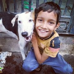Met with an animal lover... See both are smiling :)