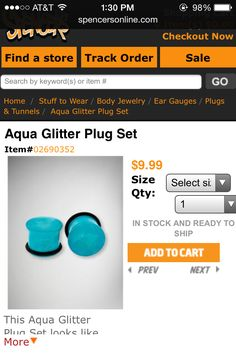 Found on google images-   Aqua glitter plug set