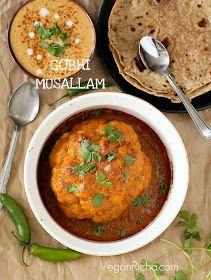Vegan Richa: Gobi Musallam - Whole Roasted Cauliflower with Creamy Makhani Gravy. Vegan Glutenfree Recipe