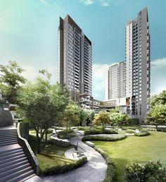 Projects - Cloudtree Residence   ARCHIMATRIX Architects Malaysia Kuala Lumpur City, Modern Architecture Design, New Property, Condominium, Patio, Architects, Outdoor Decor, Projects, House