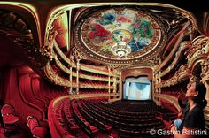 Opera Garnier, and the ceiling paint by Marc Chagall, Paris, France | Flickr - Photo Sharing!