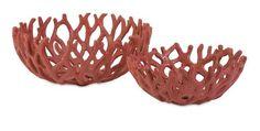 Carpacia Red Coral Bowls - Set of 2