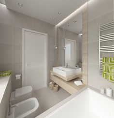 Znalezione obrazy dla zapytania mała nowoczesna łazienka z wanna