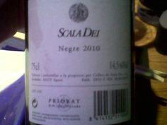 SCALA DEI NEGRE 2010 - Vino joven - DO Priorat - Bodega Cellers de Scala Dei - 100% Garnacha - 14.5%