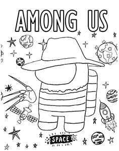 Free Kids Coloring Pages, Cartoon Coloring Pages, Free Printable Coloring Pages, Colouring Pages, Coloring Pages For Kids, Coloring Books, Freddy Krueger, Diy Back To School Supplies, Earth Drawings