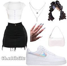 Cute Casual Outfits, Baddie Outfits Casual, Swag Outfits For Girls, Casual School Outfits, Teen Fashion Outfits, Stylish Outfits, Fashion Ideas, Girl Outfits, Womens Fashion