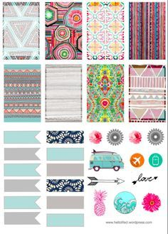Free Tribal Printables For Large Happy Planner