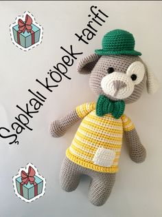10 Pcs each other beautiful amigurumi crochet dog free patterns. In this article we will share the best amigurumi toy dog models. Crochet Dog Patterns, Crochet Kids Hats, Crochet Toys, Free Crochet, Knitted Hats, Dog Crochet, Hat Patterns, Free Knitting, Amigurumi Animals