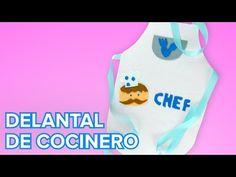 Cómo hacer un delantal de cocinero paso a paso | Manualidades infantiles - YouTube