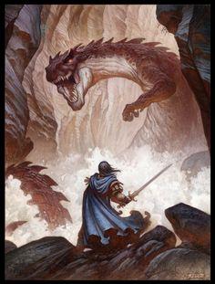 Justin Gerard - San Giorgio e il Drago ~ St. George & the Dragon | http://quickhidehere.blogspot.it/p/gallery.html