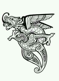 Celtic dragon tattoo #celtic #tattoos