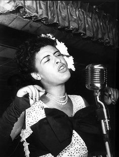 billie holiday, so often flowers in her hair