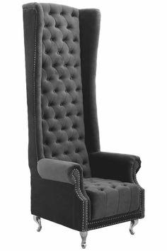 Merveilleux Grey Tall Porter Armchair By All Home