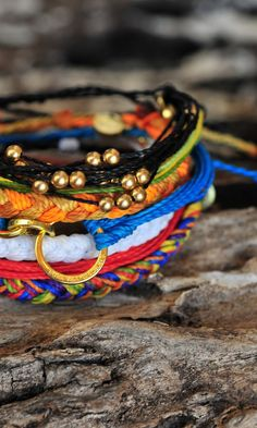 Gold Platinum Collection of Bracelets from Pura Vida. Every bracelet purchased helps provide full-time jobs for local artisans in Costa Rica. Pura Vida!