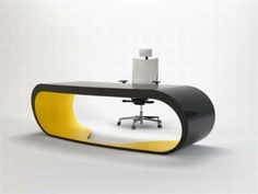 Günstige Büromöbel – die moderne Lösung für Ihr Büro - günstige büromöbel schreibtisch oval grau gelb
