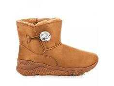 Hnedé snehule s gombíkom Eleonóra Bearpaw Boots, Ugg Boots, Paris, Shoes, Fashion, Moda, Montmartre Paris, Zapatos, Shoes Outlet