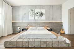Industrial Bedroom by SUBU Design Architecture