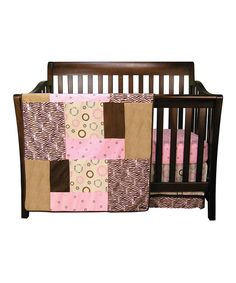 Take a look at this Pink Sweet Safari Crib Bedding Set on zulily today!