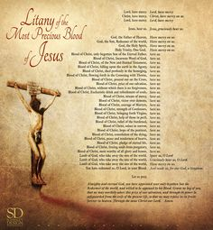 www.Schmalen.com The Litany of the Most Precious Blood of Jesus