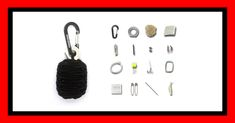 We're Giving Away Batches of Emergency Survival Grenades, the Best 550 Paracord Carabiner Keychain: 25 Tools EDC Kit for Hiking, Backpacking, Camping, Hunting, Prepping with Ferro Rod Fire Starter Gear, Fishing Kit and Much More!  Perfect for everyday carry (EDC)!